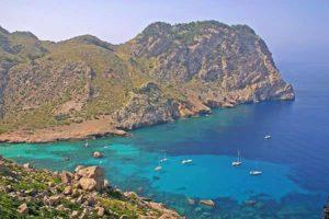 Der Eingang zur Cala Figuera, romantischste Bucht Mallorcas