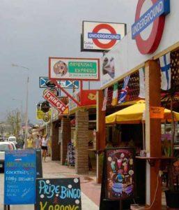 Geschäfte in Faliraki