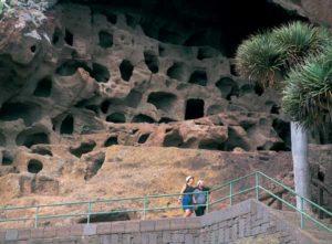 Der Cenobio de Valerón ist ein altes Kornspeichersystem der Ureinwohner