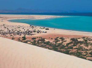 Kilometerlange Sandstrände auf der Halbinsel Jandía