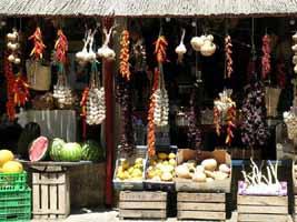 Frisches Gemüse bildet die Grundlage vieler Gerichte