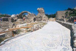 Mosaik-Ausgrabungen in Kos-Stadt