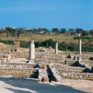 Die Ruinen der römischen Siedlung Pollentia in Alcúdia