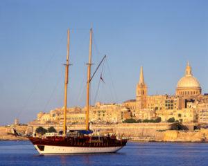 Segelschiff vor Valetta