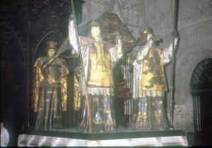 Das Grab des Kolumbus in der kathedrale von Sevilla
