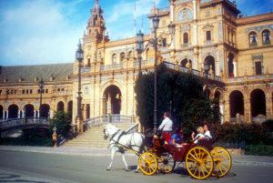 Sevilla genießen bei einer Kutschfahrt