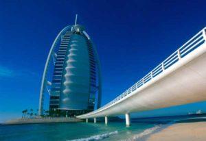Das Bujr al-Arab, eines der bekanntesten Hotels der Welt