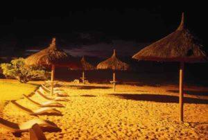 Mauritius Strand bei Nacht