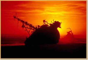 Vor der namibischen Atlantikküste liegen einige Schiffswracks