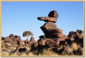 Das namibische Klima ist sehr heiß und trocken.