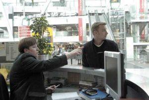 Info-Counter am Flughafen Düsseldorf