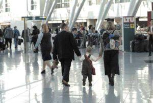 Abflugebene am Flughafen Düsseldorf