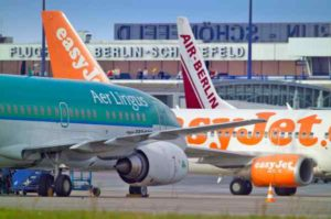 Zahlreiche Fluggesellschaften nutzen den Flughafen Berlin-Schönefeld