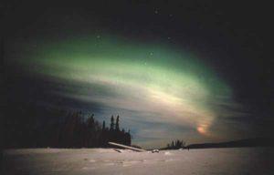 Polarlicht im arktischen Kanada