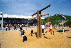 Im Besucherpark am Flughafen München gibt es auch einen Kinderspielplatz