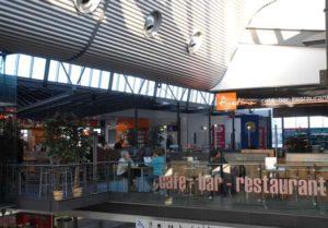 Am Flughafen Saarbrücken gibt es auch gastronomische Angebote.Restaurant