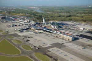 Luftbildaufnahme des Flughafen Wien