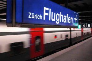 Der Flughafen Zürich ist an das Schienennetz hervorragend angebunden.