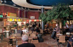 Eine Vielzahl unterschiedlicher Restaurants bestreitet das Gastronomieangebot des Flughafen Zürichs.