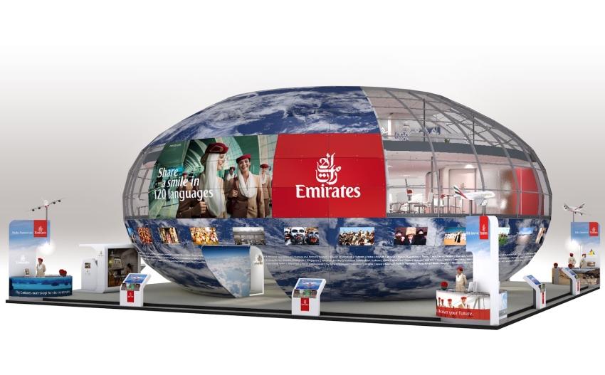 Emirates mit spektakulärem Messestand auf der ITB