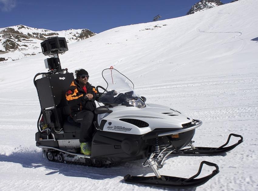 Skigebiet von Ischgl in Street View erfasst