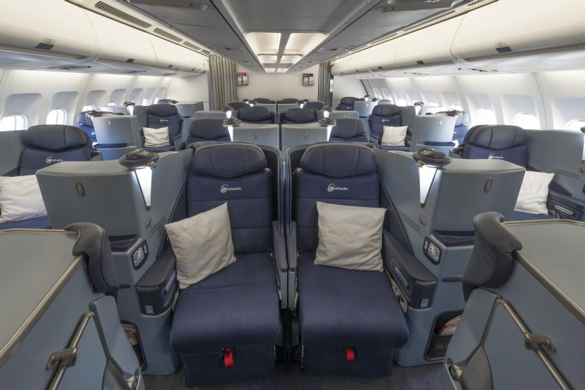 airberlin versteigert Upgrades in die Business Class