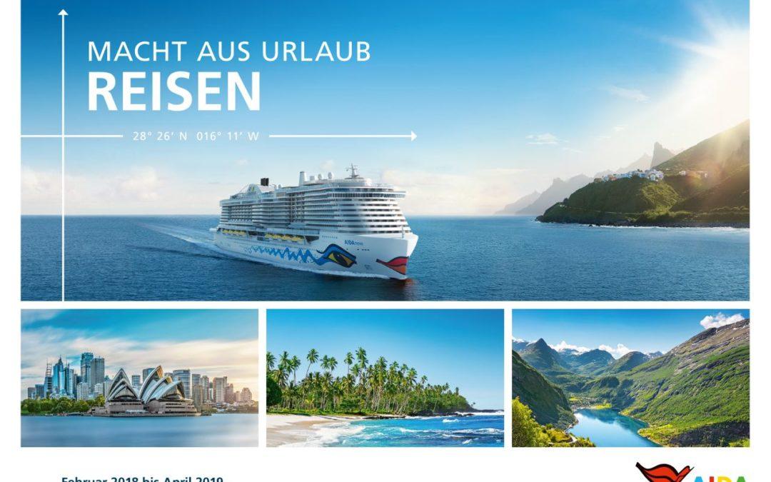 Neuer AIDA-Katalog mit Kreuzfahrten bis April 2019 erschienen