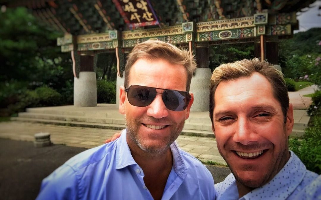 Fernsehkoch Mirko Reeh und Kai Böcking drehen in Südkorea