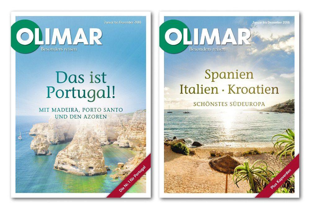 Olimar Reisen 2018 – neue Kataloge für Portugal und Südeuropa