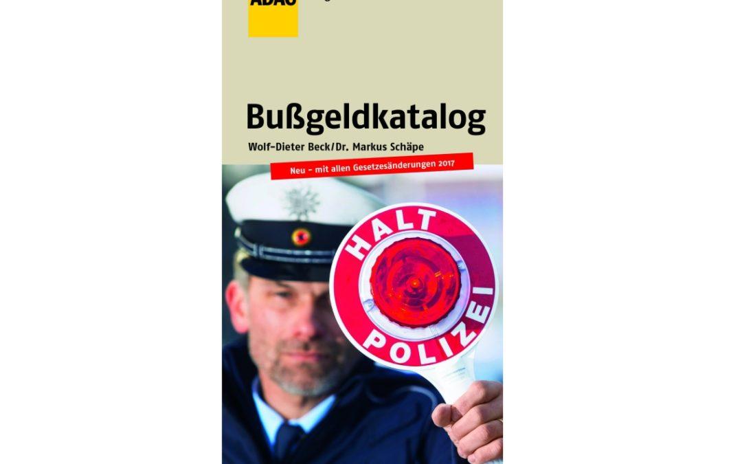 """Neuer ADAC Ratgeber """"Bußgeldkatalog"""""""