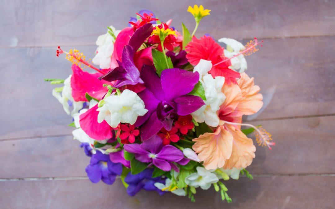 Blumen-Workshop auf den Malediven