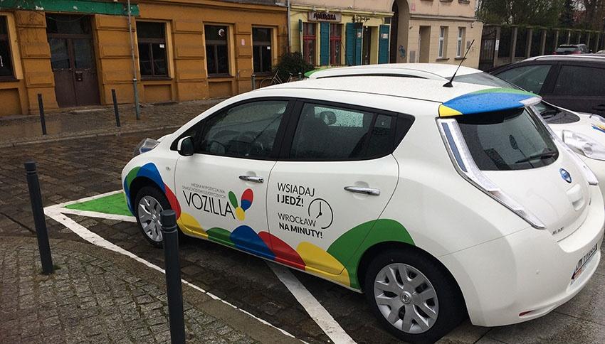 Carsharing in Breslau mit Elektroautos