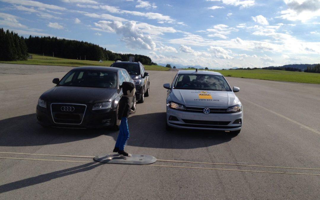 Fußgänger-Notbremsassistent im VW Polo überzeugt