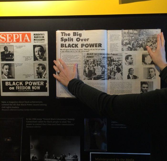 Ausstellung zu 50 Jahren Bürgerrechtsbewegung im Newseum