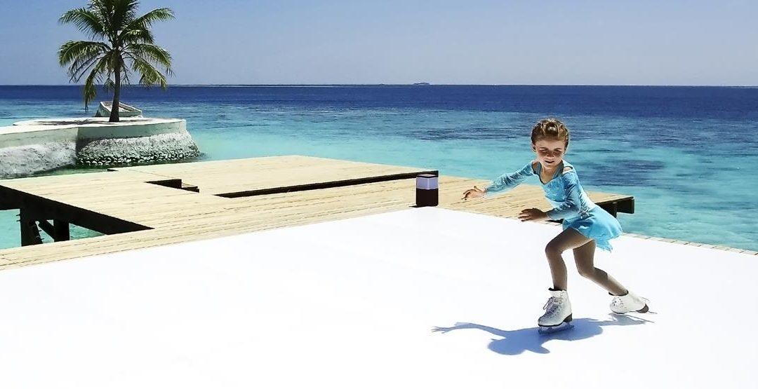 Schlittschuhlaufen auf den Malediven