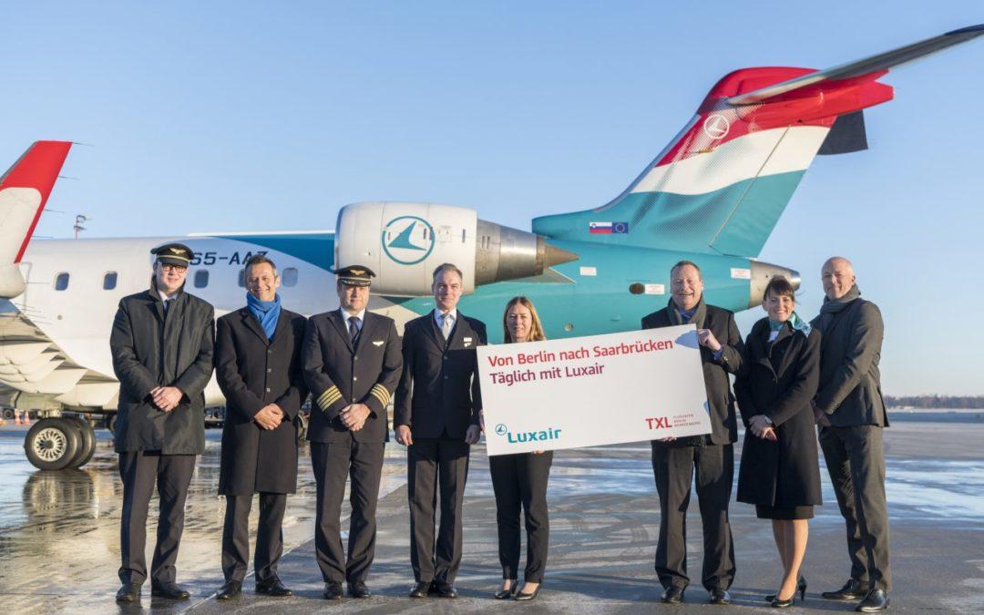 Luxair nimmt neue Verbindung von Berlin-Tegel nach Saarbrücken auf