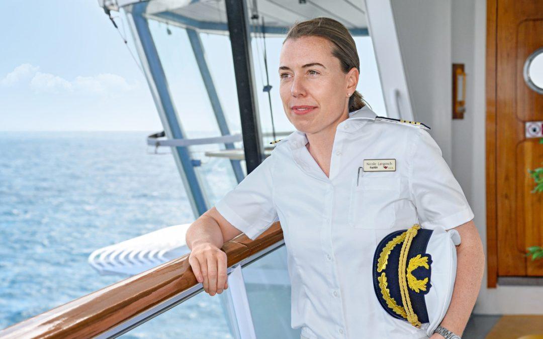 Erster weiblicher Kapitän auf einem Kreuzfahrtschiff in Deutschland