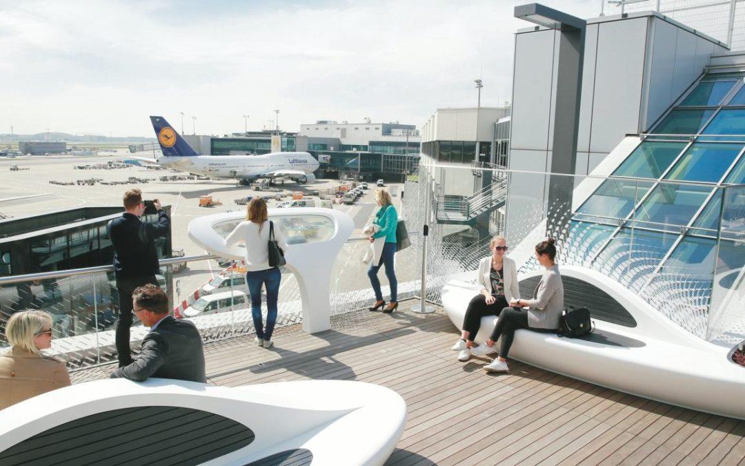 Flughafen Frankfurt: Neue Dachterrasse für Flugreisende im Terminal 1