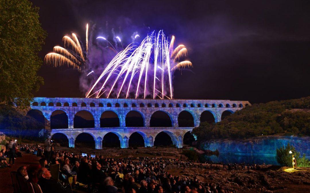 Pont du Gard als Kulisse für spektakuläres Feuerwerk