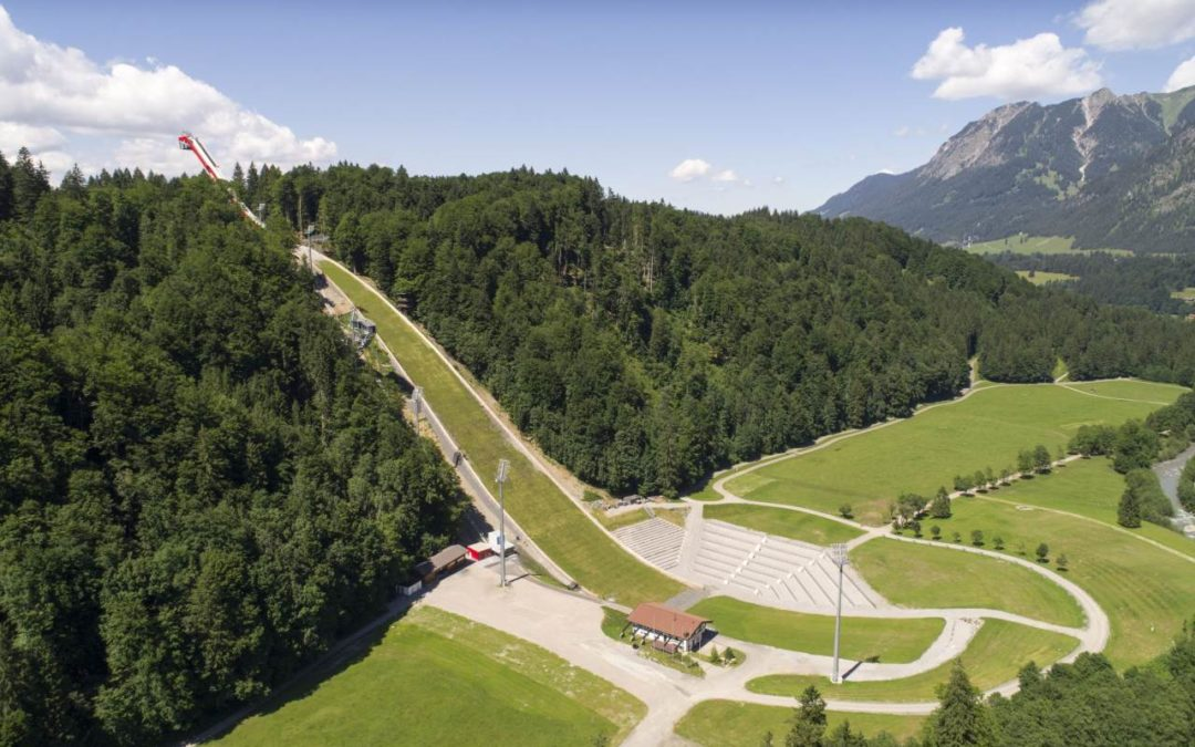 Neuer Erlebnisweg an der Heini-Klopfer-Skiflugschanze in Oberstdorf