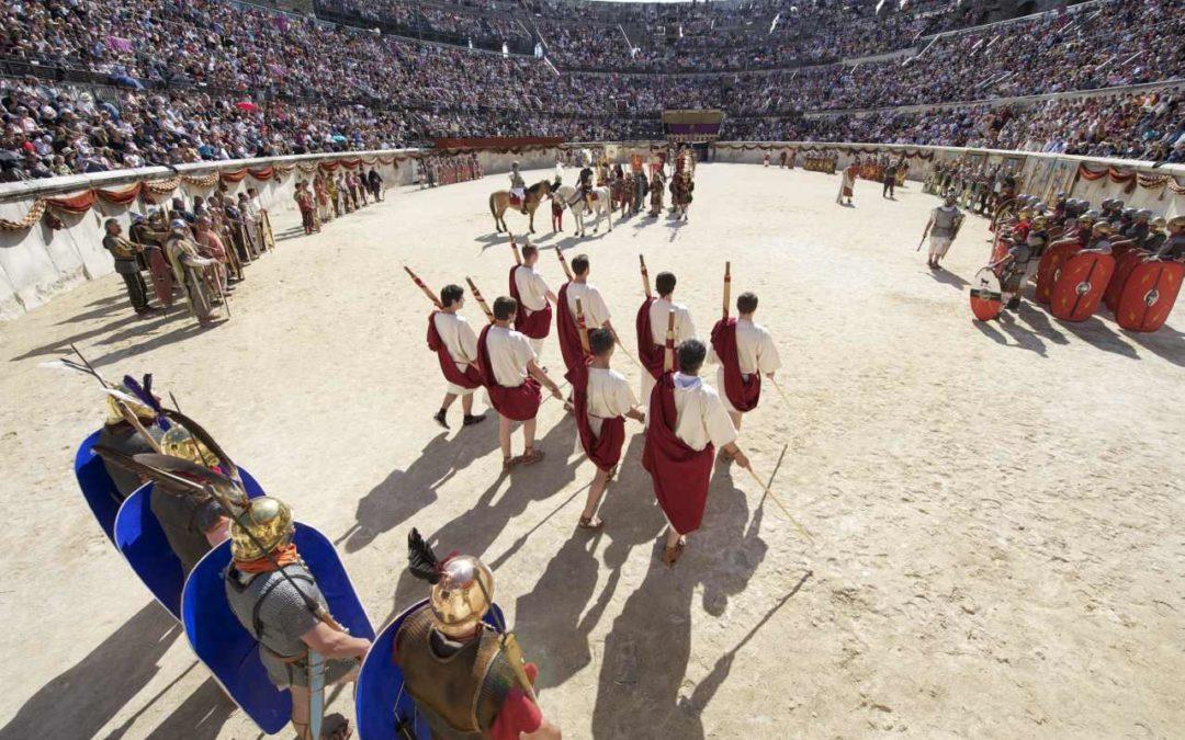 Römische Spiele in den Arenen von Nîmes