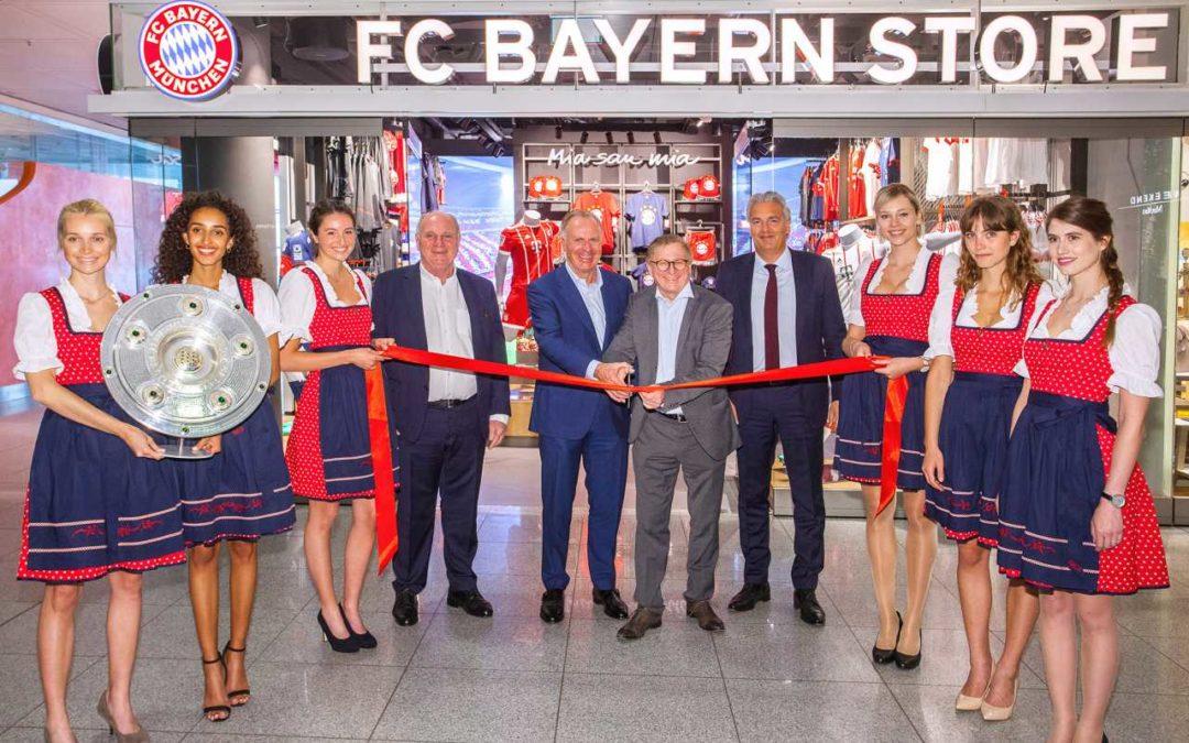Zweiter Bayern München Fanshop im Flughafen München