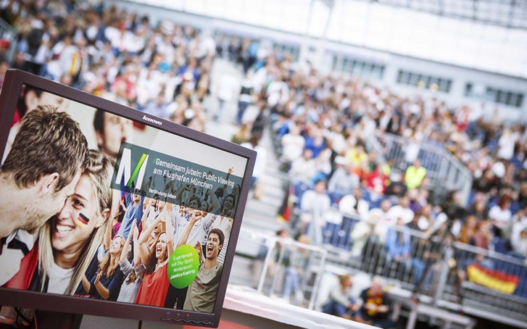Public Viewing am Flughafen München zur Fußball WM