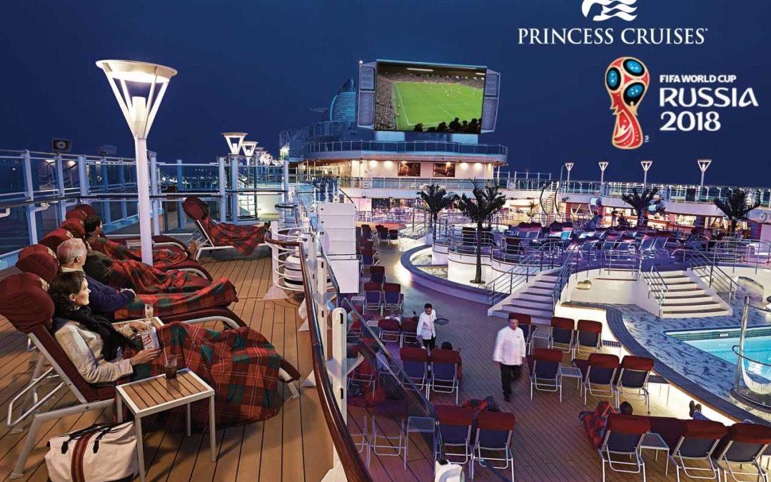 Fußball WM an Bord von Princess Cruises