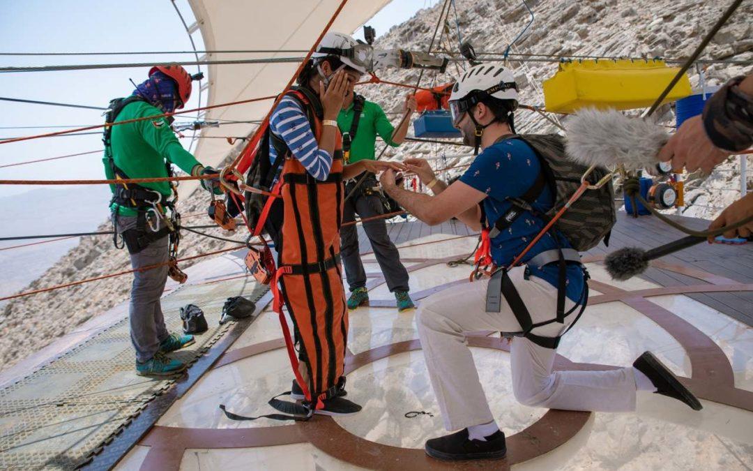 Heiratsantrag auf der längsten Zipline der Welt
