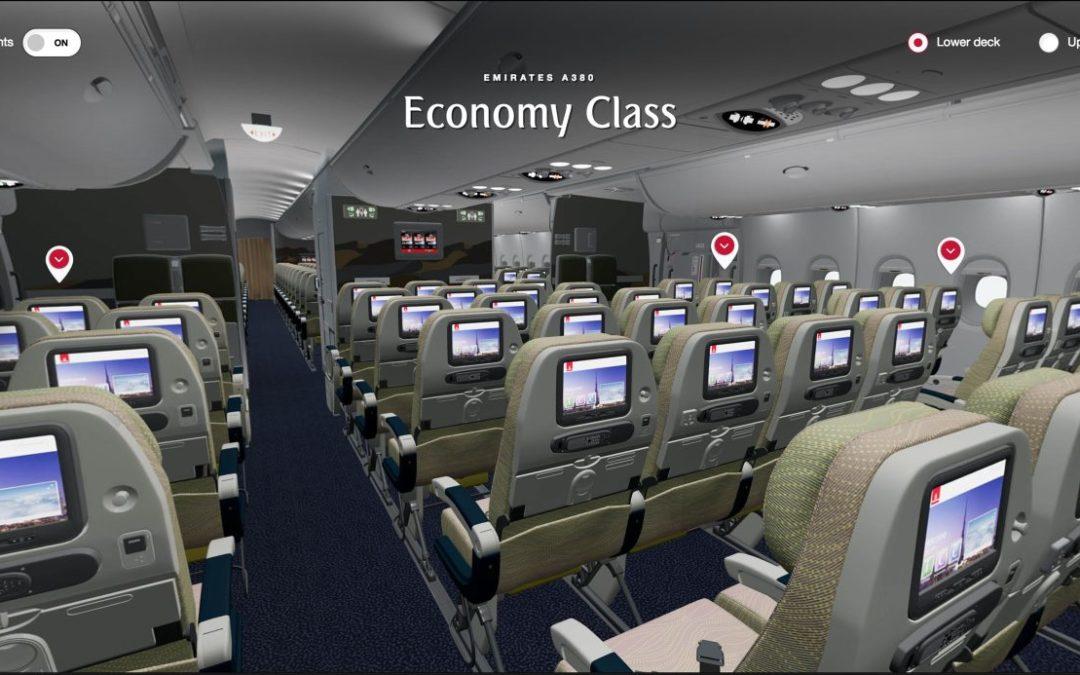 Virtual Reality auf der Webseite von Emirates