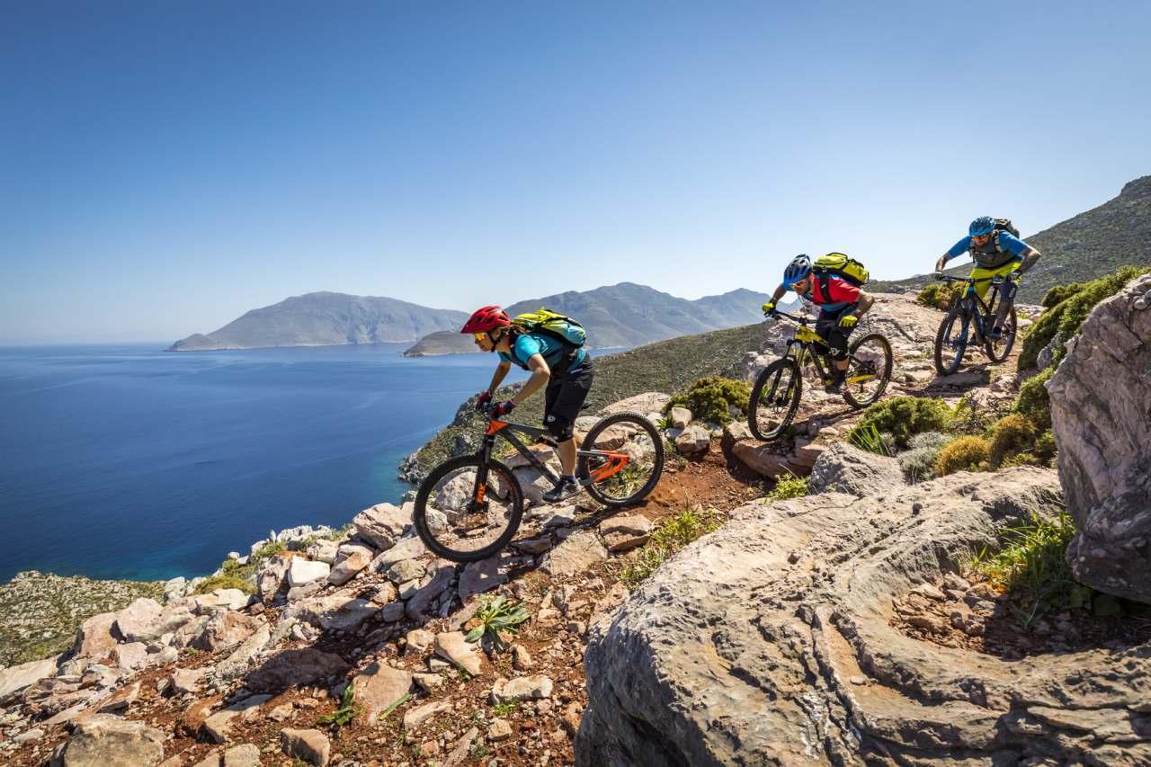 Mountainbiken auf Tilos