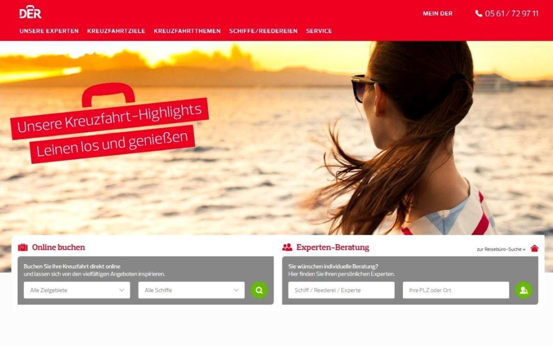 Neues Kreuzfahrtenportal von DER Touristik