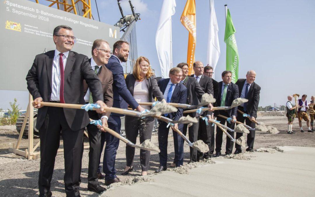 Start für Ausbau des Bahntunnels am Flughafen München