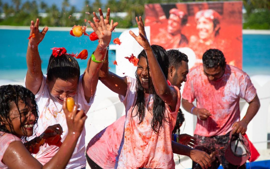 Erstes Tomaten Festival auf den Malediven